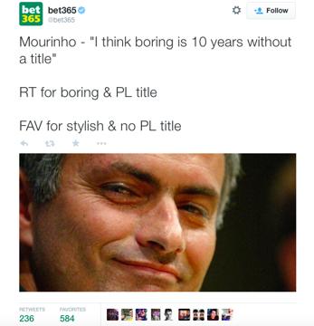 Bet 365 tweet