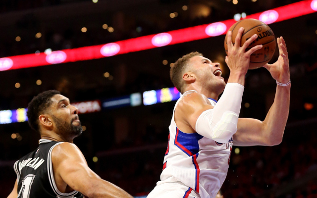 (Video) Blake Griffin schools Aron Baynes with three slam dunks in playoff opener