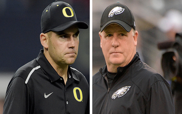 "Oregon HC says Eagles' coach Chip Kelly ""not insane"" despite signing Tim Tebow"