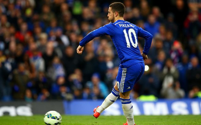 Video: Eden Hazard's awful penalty saved, but Chelsea star heads home rebound to put Jose's boys 1-0 up against Crystal Palace