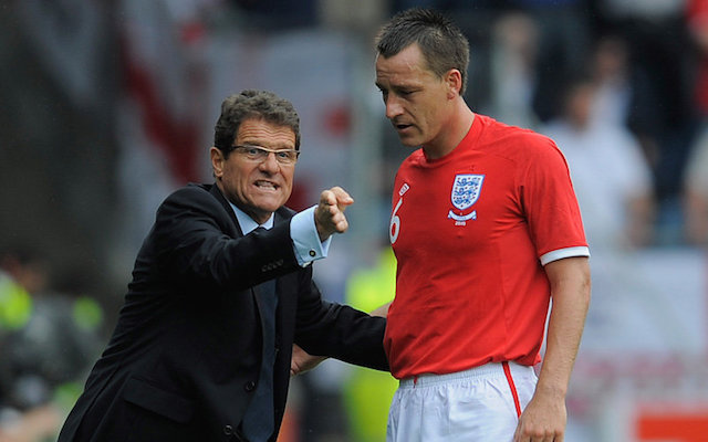 John Terry England return: Chelsea captain should still be playing for Three Lions, claims former boss Fabio Capello