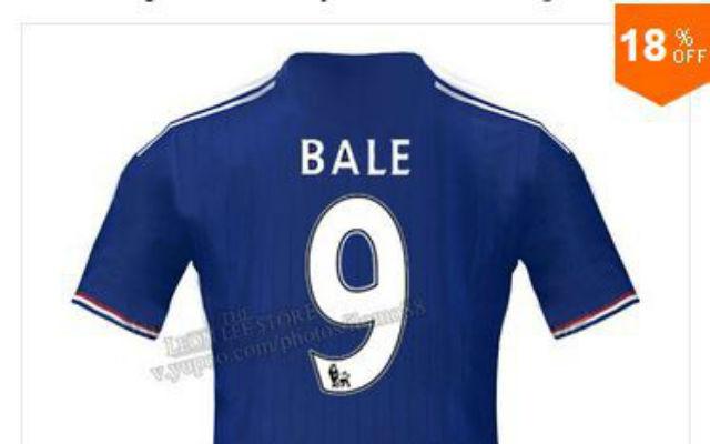 (Image) Gareth Bale Chelsea shirts go on sale in Brazil