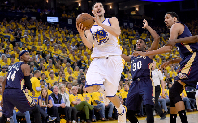 (Video) NBA Playoffs Highlights: Golden State Warriors rally to win Game 2 on Klay Thompson's clutch 4th quarter