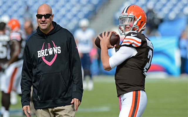 "Browns head coach says Johnny Manziel ""very much in our plans"" after return from rehab"