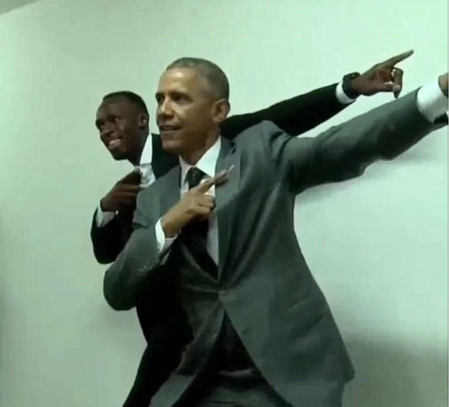 Obama and Bolt 2