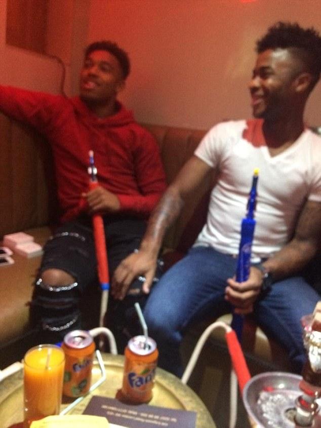 Raheem Sterling and Jordon Ibe do shisha