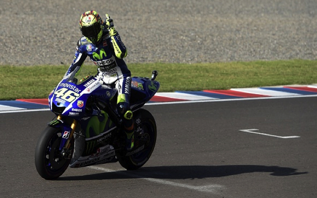 (Video) MotoGP: Valentino Rossi wins Argentina GP after Marc Marquez crashes out