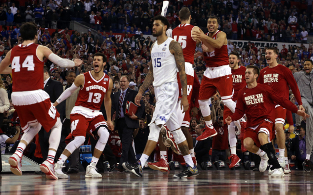 (Video) NCAA March Madness 2015: Wisconsin spoils Kentucky's perfect season to advance to NCAA Championship