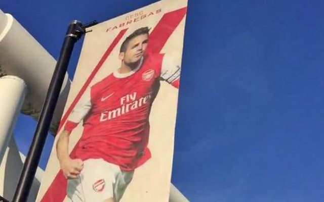 Angry Arsenal fan demands Chelsea badge-kisser Cesc Fabregas have his banner removed from Emirates