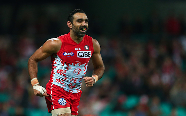 Adam Goodes: AFL boss Gillon McLachlan backs Sydney Swans star's war cry celebration
