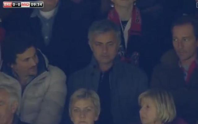 Chelsea boss Jose Mourinho spotted scouting in the stands for striker