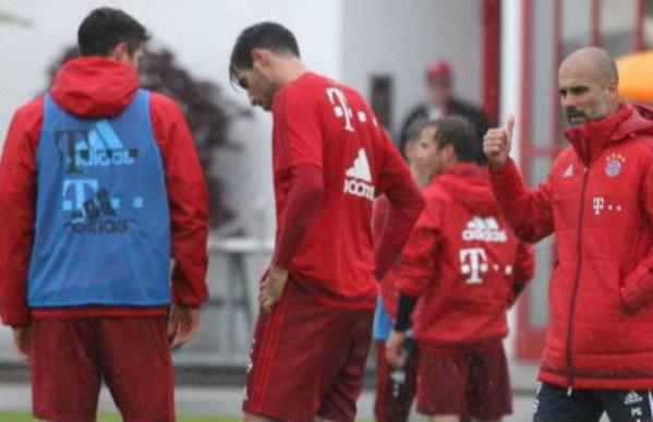 (Video) Jerome Boateng and Robert Lewandowski fight in Bayern Munich training
