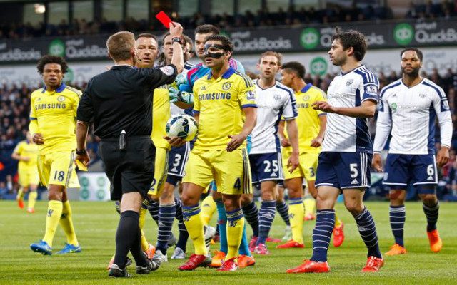 Cesc Fabregas Chelsea red card