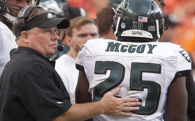 "Philadelphia Eagles HC Chip Kelly responds to RB LeSean McCoy's ""black players"" comment"