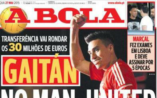Done deal? Portuguese paper claims Man United complete €30m Nico Gaitan deal