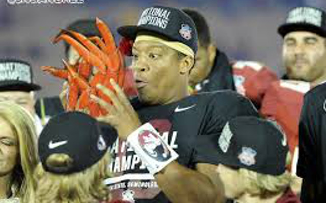 (Image) Jameis Winston posts Instagram pic of himself in Tampa Bay Buccaneers uniform with crab leg plate
