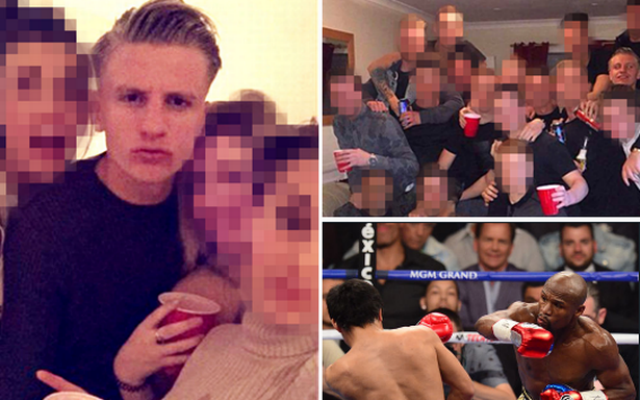 Footballer revealed at MayPac afterparty where underage girl filmed having sex