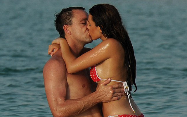 John Terry wife: Chelsea star shares semi-naked holiday photo, WAG Toni looks red hot