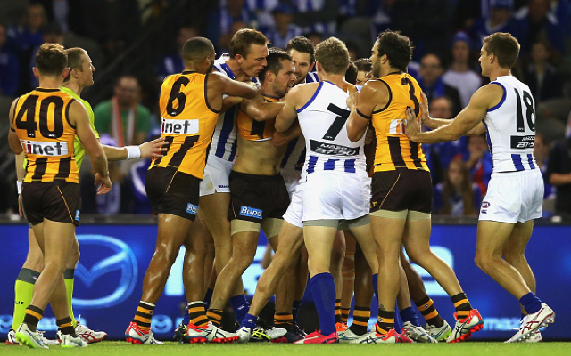 (Video) Hawthorn skipper Luke Hodge cops three-week ban for hit on Andrew Swallow