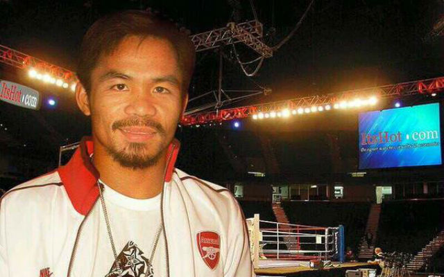 (Images) Manny Pacquiao reveals he is an Arsenal fan