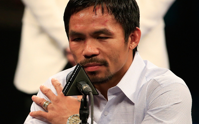 "Boxing news: Manny Pacquiao doesn't bite back at Floyd Mayweather ""sore loser"" dig"