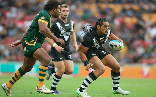 ANZAC Test: New Zealand enforcer Martin Taupau plays down throat-slit gesture toward Sam Thaiday