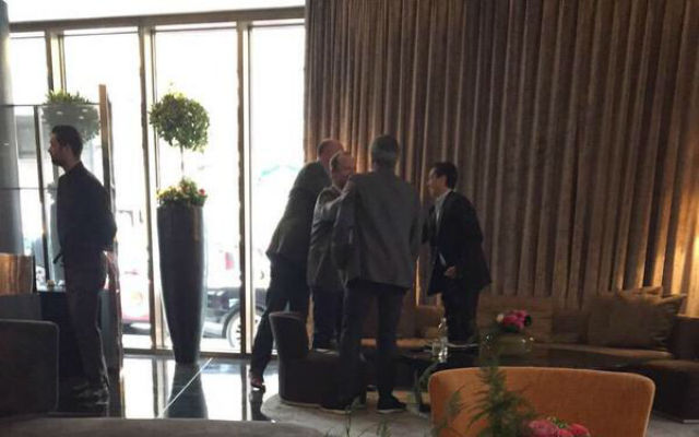 (Image) Chelsea boss Jose Mourinho meets with Man United exec Ed Woodward and player's agent in hotel