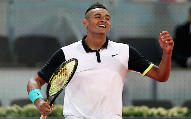 (Video) Nick Kyrgios shocks world no.2 Roger Federer at Madrid Open