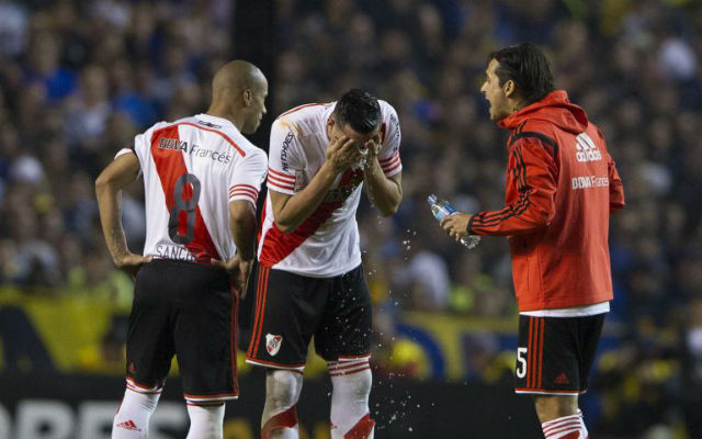 (Video) Boca Juniors v River Plate suspended as fan attacks players with pepper spray