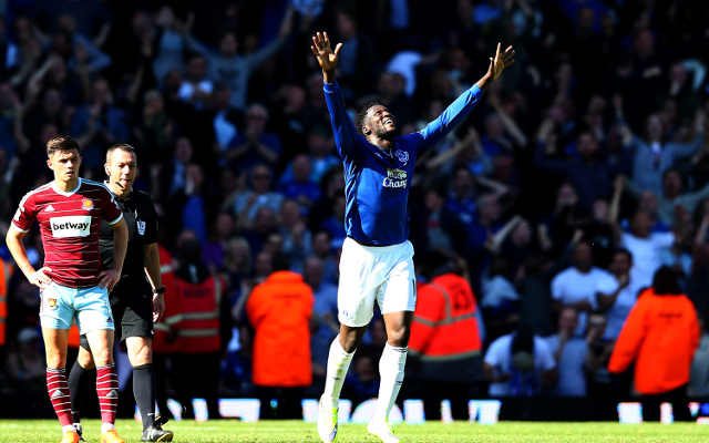 (Video) Everton striker Romelu Lukaku stuns West Ham with game winner