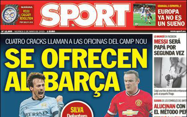 Manchester United stars Wayne Rooney and Juan Mata 'offered' to Barcelona