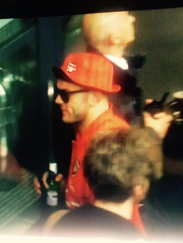 Wilshere drinking beer at 10.30am