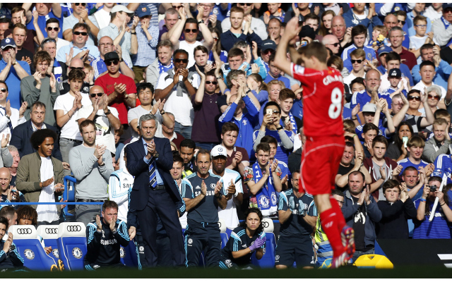 (Video) Chelsea fans salute Steven Gerrard, who throws it in their faces