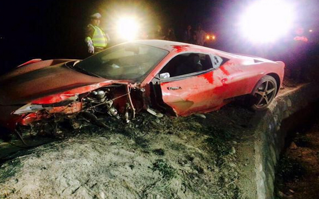 (Images) Arturo Vidal car accident: Juventus & Chile star taken to hospital after crashing Ferrari
