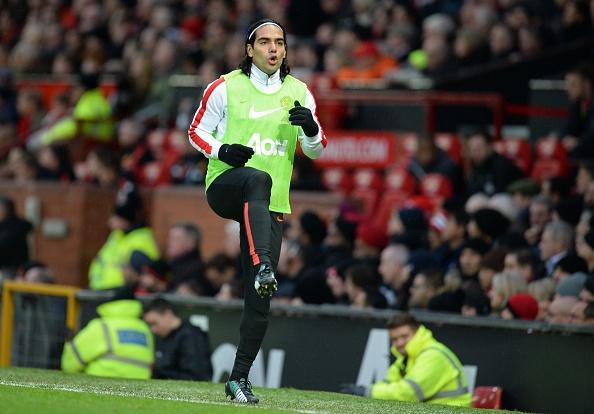 Falcao warming up