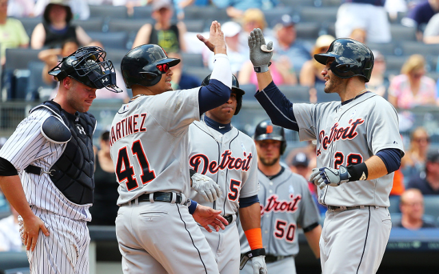 (Video) Detroit Tigers OF J.D. Martinez hits THREE home runs in win over New York Yankees
