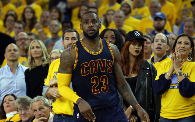 (Image) Rihanna ditched after cheering for LeBron James in NBA Finals