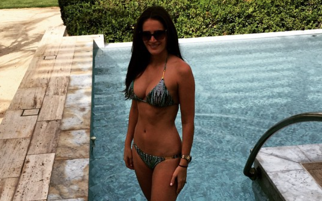 Photo: Fabio Borini's new wife shows off bikini body on hot honeymoon