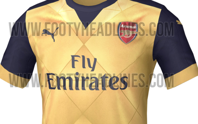 New Arsenal away shirt LEAKED – SECRET photos of yellow 2015-16 jersey to be worn at Crystal Palace