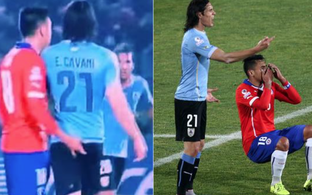 Cavani bum fingered! Red card video: Chelsea, Arsenal & Man Utd target sent off after being MOLESTED