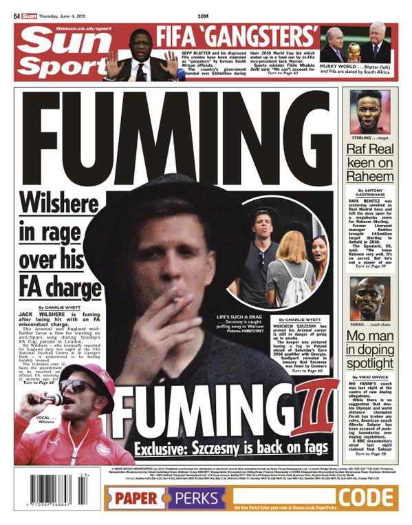 The Sun backpage June 4 2015
