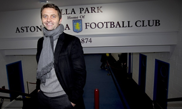 Tim Sherwood posing at Aston Villa