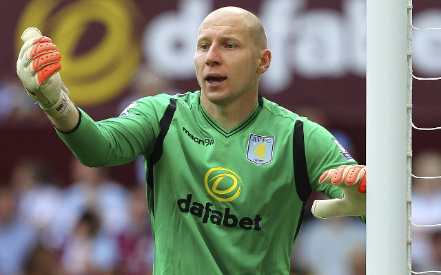during the pre-season friendly match between Aston Villa and Parma at Villa Park on August 9, 2014 in Birmingham, England.