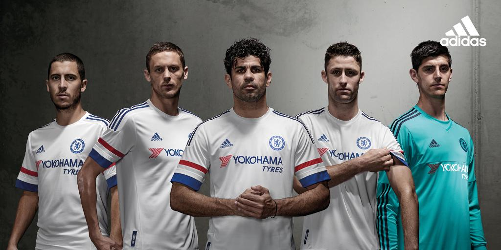 Chelsea away kit launch poster