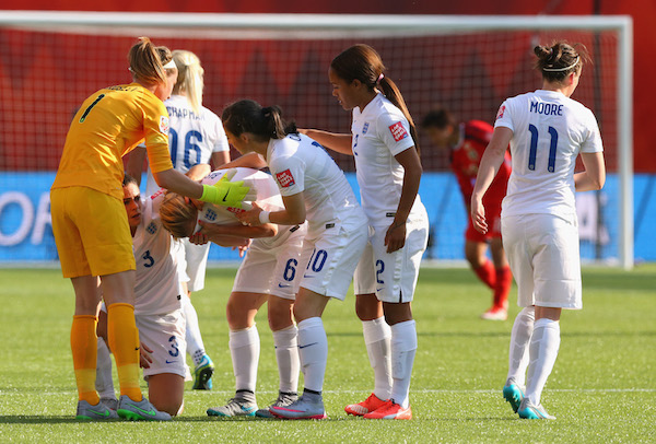Crying footballers: Laura Bassett emulates emotional Arsenal, Chelsea & Liverpool men in spilling tears
