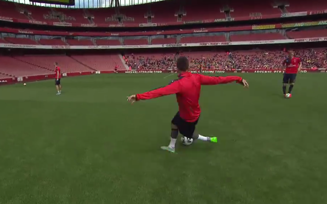 Laurent Koscienly scores OUTRAGEOUS goal in Arsenal training