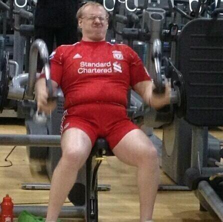 Liverpool full kit wanker at the gym
