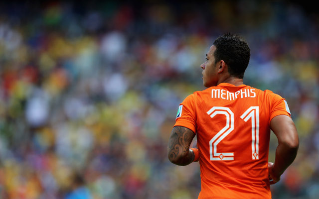 during the 2014 FIFA World Cup Brazil Round of 16 match between Netherlands and Mexico at Castelao on June 29, 2014 in Fortaleza, Brazil.