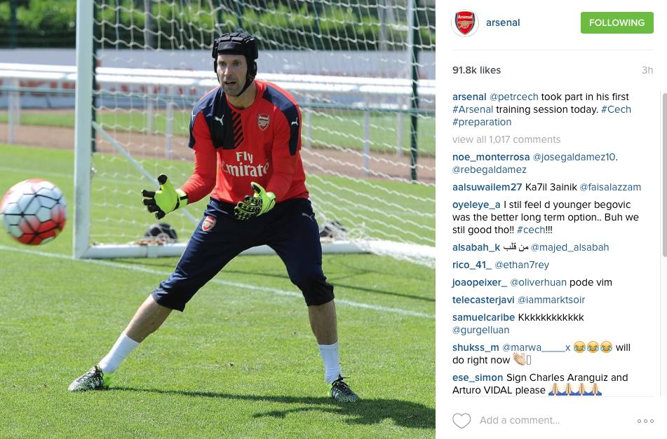 Petr Cech in training