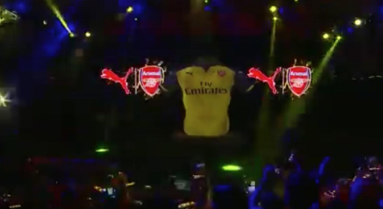 Arsenal away kit launch